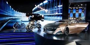 Écran géant événement Peugeot